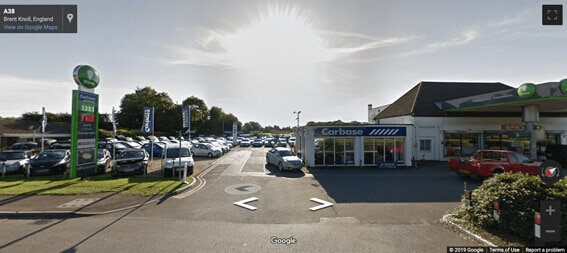 Carbase Brent Knoll Store on Google Street View