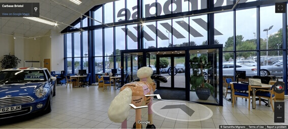 Carbase Bristol Store on Google Street View