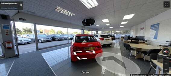 Carbase Lympsham Store on Google Street View