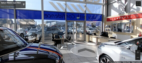 Carbase Weston-super-Mare Store on Google Street View